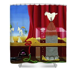 Three Twisted Dancers Shower Curtain