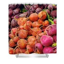 Three Types Of Beets Shower Curtain