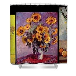 Three Vases Van Gogh - Cezanne Shower Curtain