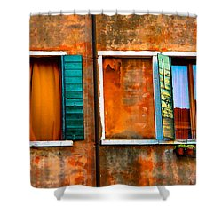 Three Windows Shower Curtain by Harry Spitz