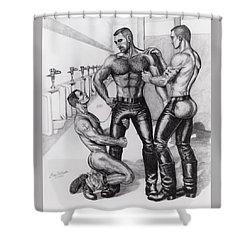 Threeway In Tearoom Shower Curtain