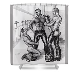 Threeway In Tearoom Shower Curtain