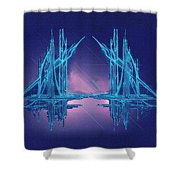 Threshold Shower Curtain by Don Quackenbush