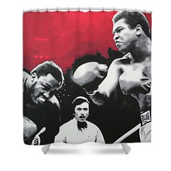 Thrilla In Manila Shower Curtain