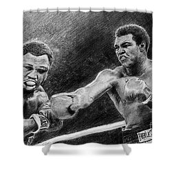 Thrilla In Manilla Pencil Drawing Shower Curtain