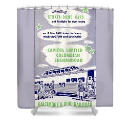 Thrilling Strata-dome Cars Shower Curtain