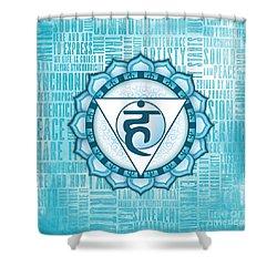 Throat Chakra - Awareness Shower Curtain by David Weingaertner