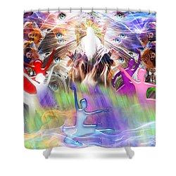 Throneroom Dance Shower Curtain by Dolores Develde