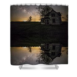 Shower Curtain featuring the photograph Through A Mirror Darkly  by Aaron J Groen