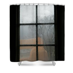 Shower Curtain featuring the photograph Through A Museum Window by Marilyn Hunt