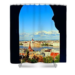 Through An Arch In Budapest Shower Curtain by Madeline Ellis