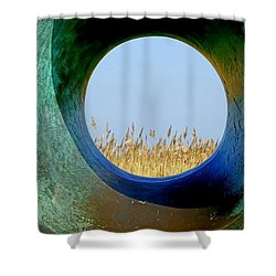 Through And Beyond Shower Curtain