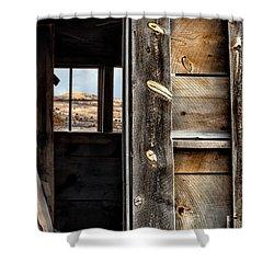 Through Cabin Window Shower Curtain