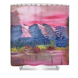 Through Rose Colored Glasses Shower Curtain