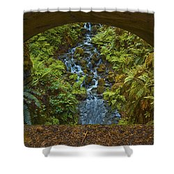Through The Arch Signed Shower Curtain