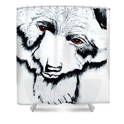 Through The Bears Eyes Shower Curtain