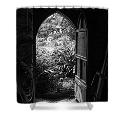 Shower Curtain featuring the photograph Through The Door by Clare Bambers