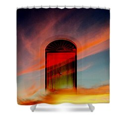 Through The Door Shower Curtain