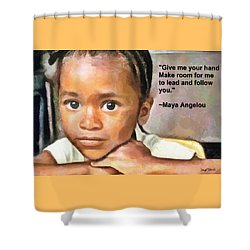 Shower Curtain featuring the painting Through The Eyes Of A Child by Wayne Pascall