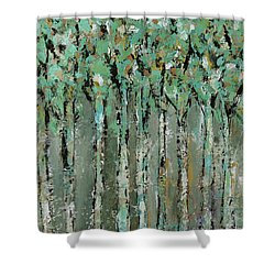 Through The Forest Shower Curtain