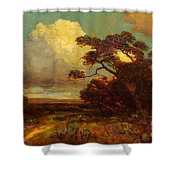 Through The Hills In Southwest Texas 1911 Without Border Shower Curtain