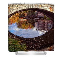 Through The Looking Glass Shower Curtain by Joann Vitali