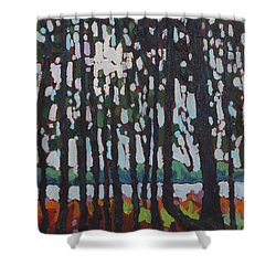 Through The Opinicon Forest Shower Curtain