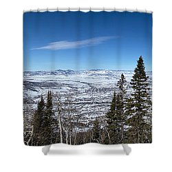 Through The Pines Shower Curtain