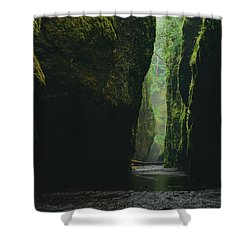 Through The River Shower Curtain