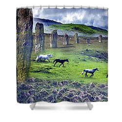 Through The Standing Stones Shower Curtain