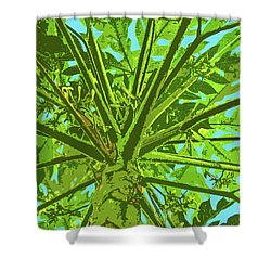 Through The Trees II Shower Curtain