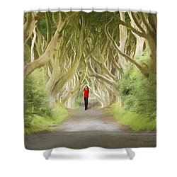 Through The Trees Shower Curtain by Roy  McPeak
