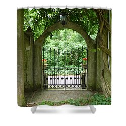 Through The Tuscan Gate Shower Curtain