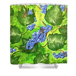 Through The Vines Shower Curtain