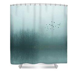 Through The Zero Hour Shower Curtain