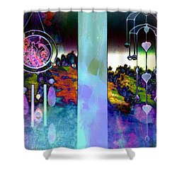 Through To The Groves Dusk Shower Curtain