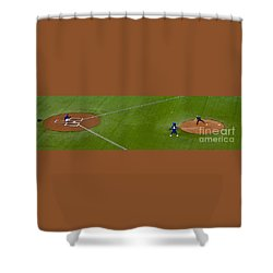 Throwing The First Pitch Shower Curtain