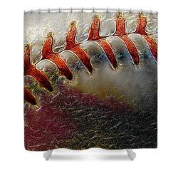 Thrown Heat Shower Curtain by Stuart Turnbull