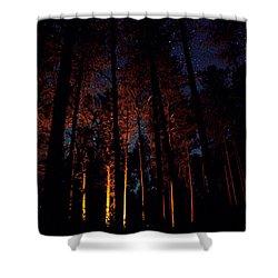 Thru The Dark Shower Curtain