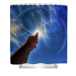 Thumb To The Sky Shower Curtain