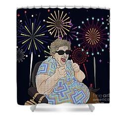 Shower Curtain featuring the digital art Thumbs Up by Megan Dirsa-DuBois