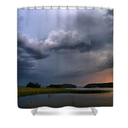 Shower Curtain featuring the photograph Thunder At Siuro by Jouko Lehto