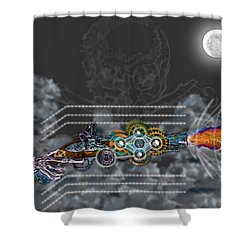 Thunder Gun Of The Dead Shower Curtain by Iowan Stone-Flowers