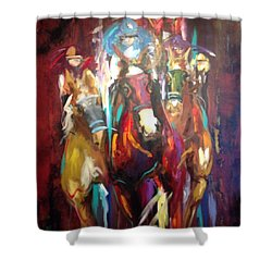 Thunder  Shower Curtain by Heather Roddy