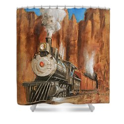 Thunder In Cathedral Canyon Shower Curtain by Christopher Jenkins