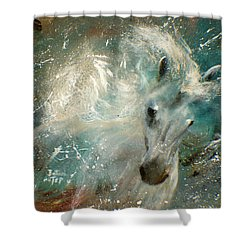 Poseiden's Thunder Shower Curtain