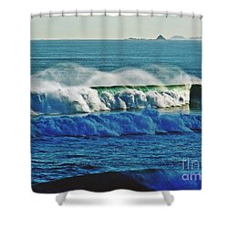 Thunder Of The Waves Shower Curtain by Blair Stuart
