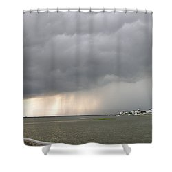 Thunder On The Bay Shower Curtain
