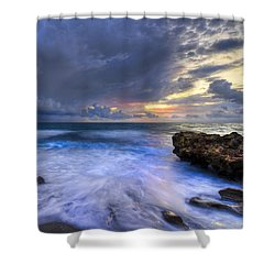 Thunder Tides Shower Curtain by Debra and Dave Vanderlaan