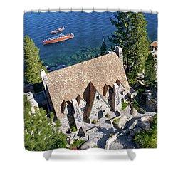 Thunderbird Lodge Aerial Shower Curtain